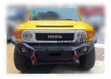 Off Road Winch Bumper Black Powder Coating , Front Truck Bumpers For Toyota FJ Cruiser 2007 Tedarikçi