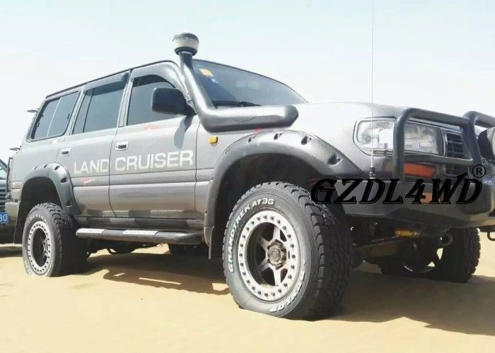 Çin 4x4 Land Cruiser Off road Fender Flares LC80 FJ80 4500 Pocket Style 1997 - 2007 Fabrika