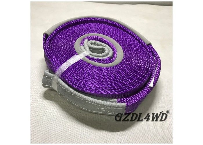Çin Recovery Kits 4x4 Off Road Accessories  Vehicle Tow Straps Purple Shock Absorbent Fabrika