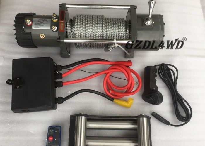 Off Road Handlebar Mini Winch Electric Automotive 12v 24v 8000lbs For ATV