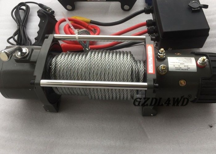 12v Truck Heavy Duty Electric Winch 8.3mm Steel Wire 9500lbs For Off Road
