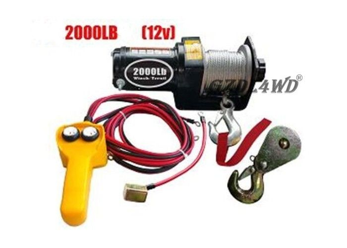 12V 2000LB Heavy Duty Electric Winch Truck With ATV Rope Wireless Remote Tedarikçi