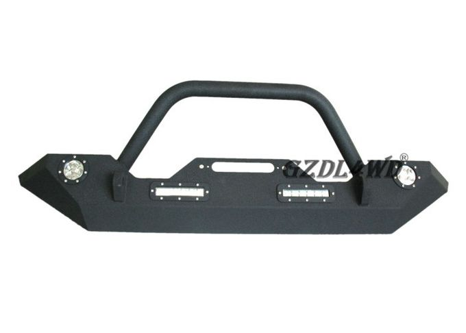 Steel 4X4 Front Bumper Guard With LED Lights Jeep Wrangler 2007 - 2014