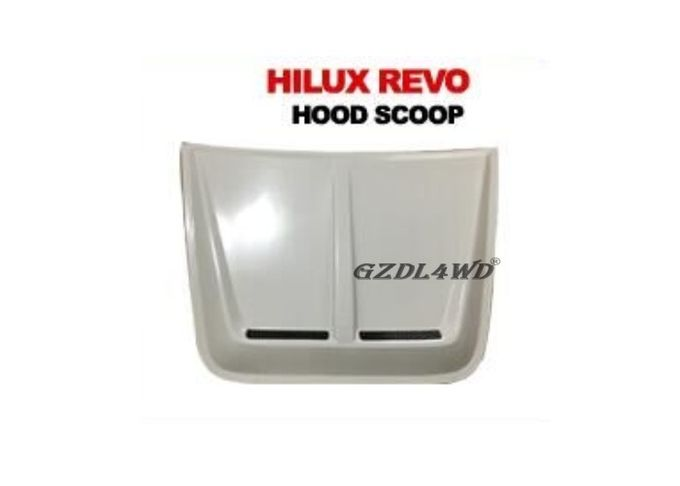 White Smooth Bonnet Car Hood Scoop Cover Air Vent For Toyota Hilux Revo